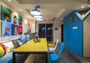 混搭风格时尚创意餐厅卡座设计装修效果图赏析