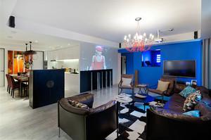 156平米混搭风格时尚个性复式楼装修实景图案例