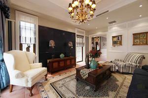 350平米美式风格古朴典雅别墅室内装修实景图