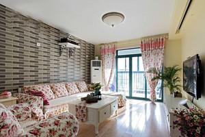 100平米欧式田园风格温馨室内装修效果图案例