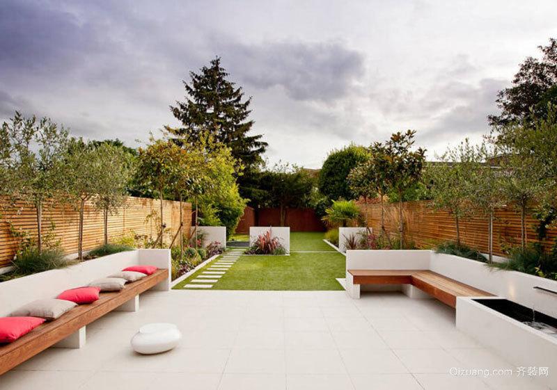 现代风格休闲别墅花园设计装修效果图