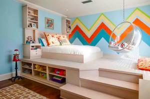 现代简约风格多彩儿童房设计装修效果图赏析