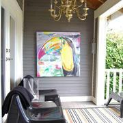 美式风格别墅精美阳台设计装修效果图欣赏