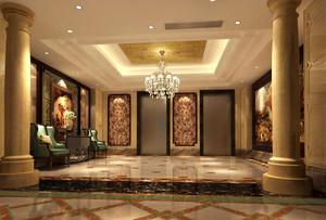 欧式风格华丽KTV大厅设计装修效果图