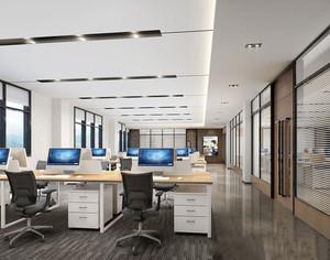 120平米现在简约风格办公室装修效果图