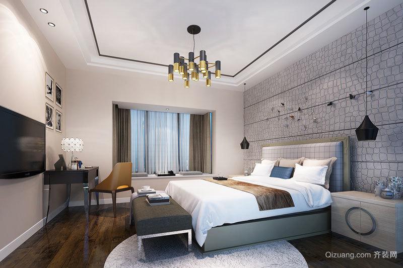 50平米新中式风格宾馆客房设计装修效果图