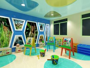 58平米现代简约风格幼儿园教室环境布置装修图