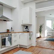 北欧风格白色简约厨房装修效果图赏析