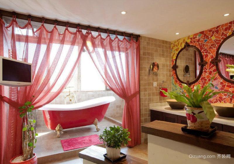 东南亚风格别墅室内卫生间装修效果图赏析