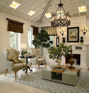 287平米欧式田园风格别墅室内装修效果图案例
