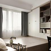 12平米现代风格榻榻米卧室装修效果图赏析