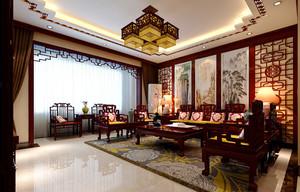 164平米中式风格古典雅致复式楼装修效果图案例