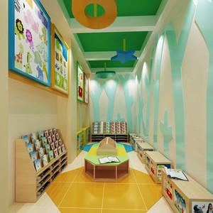 现代简约风格可爱幼儿园教室环境布置效果图