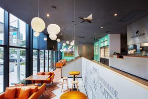 100平米现代风格时尚咖啡厅设计装修效果图