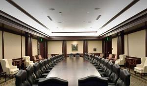 现代风格精致大型会议室装修效果图