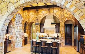 复古风格古朴别墅整体厨房装修效果图赏析