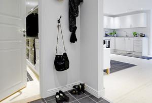 现代简约风格白色精致单身公寓装修效果图