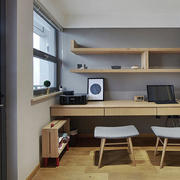 现代风格小书房设计装修效果图赏析