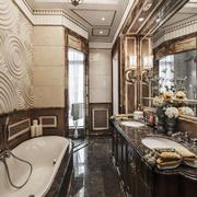 欧式风格奢华别墅卫生间装修效果图鉴赏