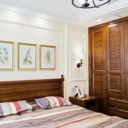 美式风格自然纯朴卧室衣柜设计装修效果图