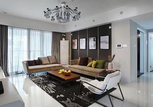 82平米现代风格精致两室两厅室内装修效果图案例