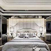 新中式风格典雅卧室背景墙装修效果图欣赏