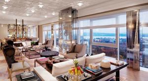 欧式风格豪华酒店总统套房装修效果图