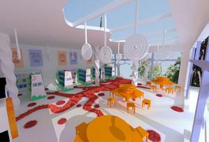 现代简约风格幼儿园房间吊饰装修效果图