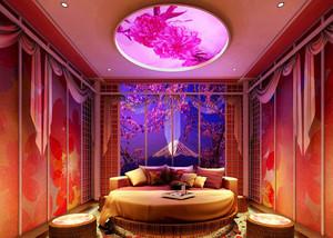 中式风格古韵酒店情侣客房设计装修效果图
