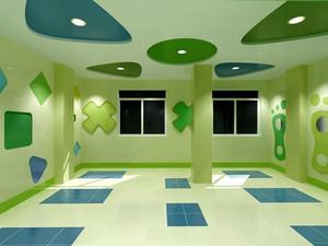 现代简约风格幼儿园教室吊饰装修效果图