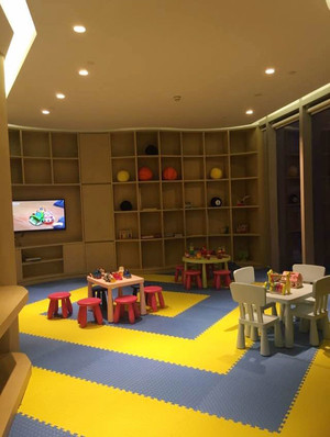 现代简约风格创意幼儿园小班教室装修效果图