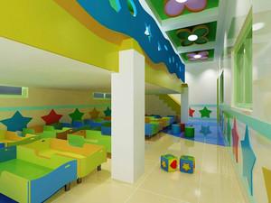 现代简约风格可爱温馨幼儿园休息室装修效果图