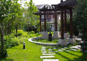 现代风格别墅精致花园设计装修效果图