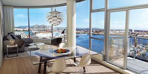 71平米现代简约风格单身公寓装修效果图欣赏