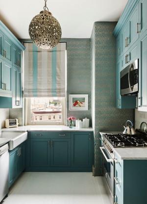 地中海风格蓝色厨房装修效果图欣赏
