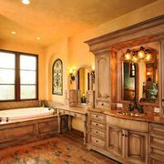 复古风格古朴别墅卫生间装修效果图欣赏