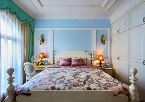 简欧风格清新卧室整体衣柜装修效果图赏析