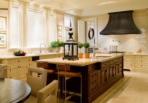 美式乡村风格别墅厨房装修效果图赏析