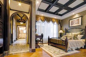 320平米美式风格沉稳大气别墅室内装修效果图