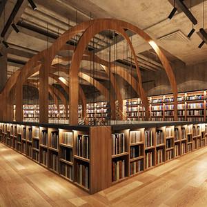 400平米现代风格大型书店装修效果图赏析