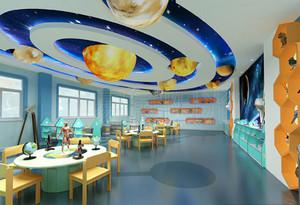 现代简约风格幼儿园大班教室吊饰装修效果图