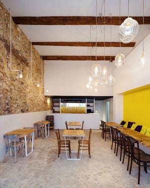 42平米简约风格快餐店设计装修效果图