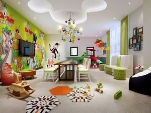 现代简约风格可爱幼儿园餐厅装修效果图赏析