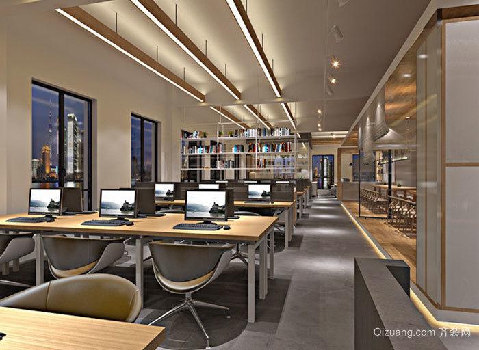100平米現代風格辦公室裝修效果圖