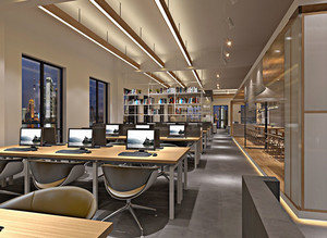 100平米现代风格办公室装修效果图