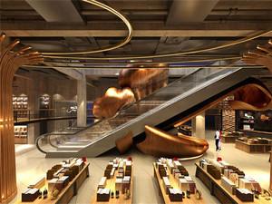 500平米现代风格大型精品书店装修效果图