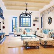 地中海风格精致轻松客厅装修效果图