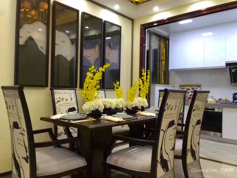 混搭风格精致餐厅背景墙装修效果图赏析
