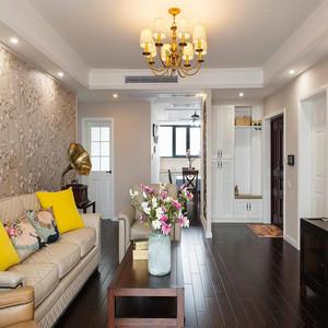 115平米简约美式风格三室两厅室内装修效果图