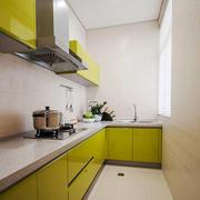 现代简约风格小户型黄色厨房装修效果图赏析